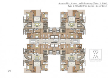 2 Cluster Plan Duplex Upper level