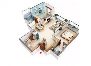 2 BHK 1255 Sq.Ft