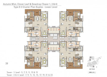 D 2 Cluster Plan Duplex Lower Level