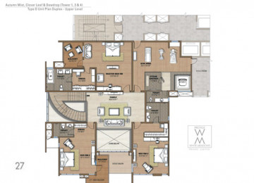D Unit Plan Duplex upper Level