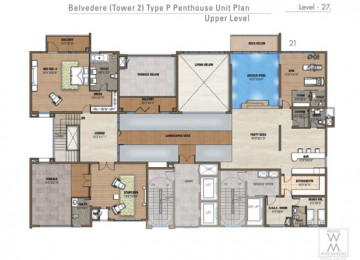 P Penthouse Unit Plan Upper levle