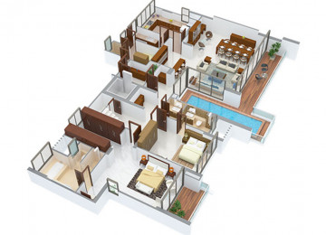 5 BHK type1 lower level