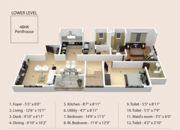 LOWER LEVEL 4BHK Penthouse