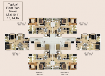 Typical Floor Plan Tower-1,3,6,10,11,13,14,16