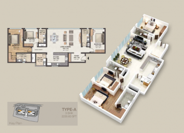 TYPE A 3 BHK 2235.60 SFT
