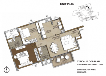 TYPICAL 2 BEDROOM UNIT TYPE 1