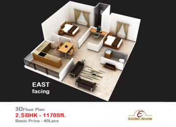 Floorplan east face 3floor 2 5bhk 1170 sft