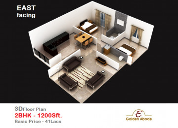 Floorplan east face 3floor 2bhk 1200 sft