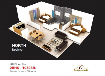 Floorplan east face 3floor 2bhk 1030 sft