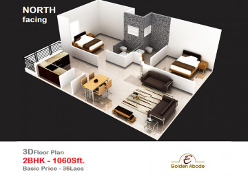 Floorplan east face 3floor 2bhk 1060 sft 2