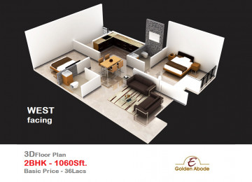 Floorplan east face 3floor 2bhk 1060sft