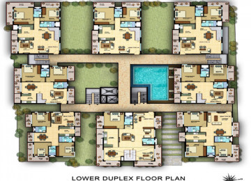 Lower duplex floorplan