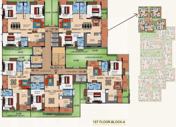 Mahaveer tranquil block a cluster plan for 1st floor
