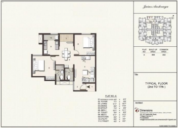 Typical floorplan Flat A