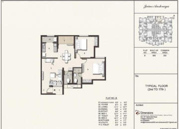 Typical floorplan Flat B