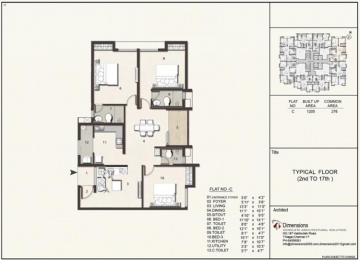 Typical floorplan Flat C