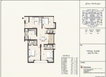 Typical floorplan Flat D