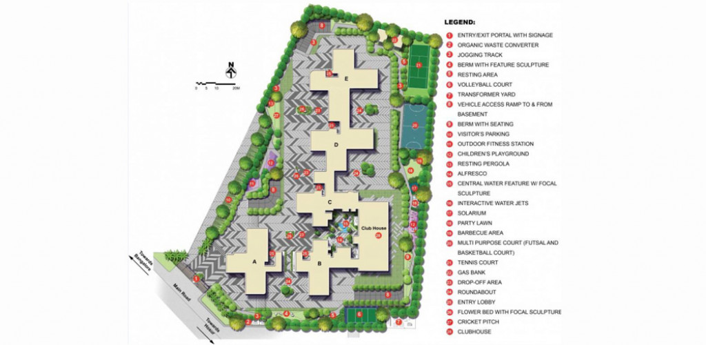 kolte patil i towers exente  master plan