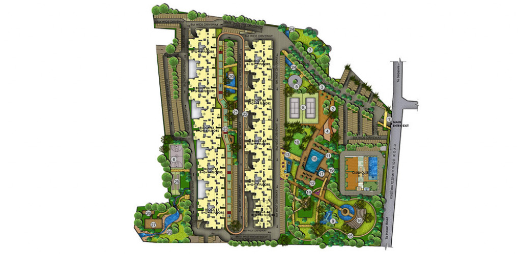 mahaveer ranches  master plan